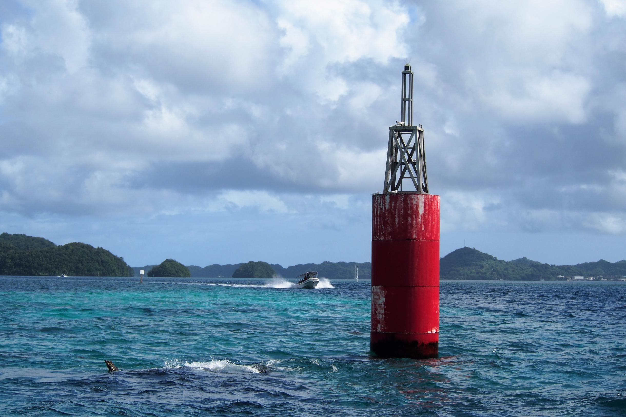 East channel entrance lighthouse in Koror, Palau